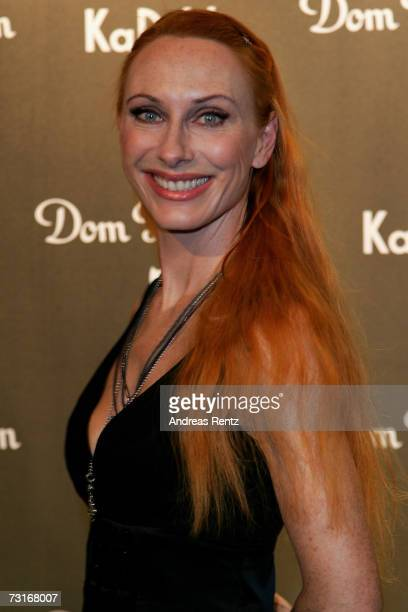 Actress Andrea Sawatzki attends the Dom Perignon vernissage at the KaDeWe on January 31 2007 in Berlin Germany