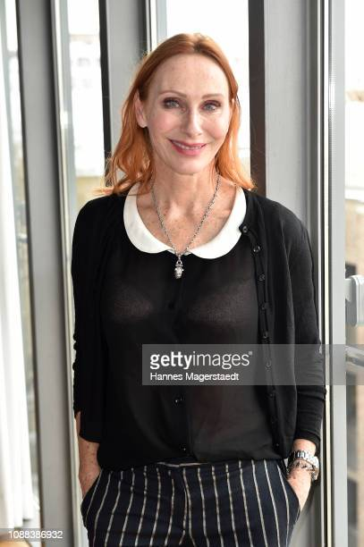Actress Andrea Sawatzki during the BR Film Brunch at Literaturhaus on January 25 2019 in Munich Germany
