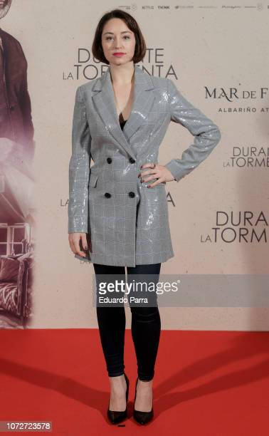 Actress Andrea Trepat attends the 'Durante la tormenta' photocall at Suecia hotel on November 26 2018 in Madrid Spain
