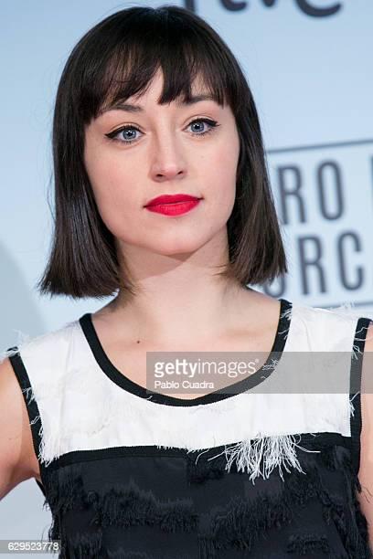 Actress Andrea Trepat attends the 'El Faro de las Orcas' premiere at Capitol Cinema on December 13 2016 in Madrid Spain