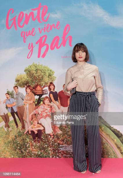 Actress Andrea Trepat attends the 'Gente que viene y bah' premiere at Capitol cinema on January 16 2019 in Madrid Spain