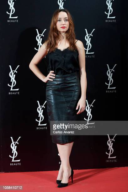 Actress Andrea Trepat attends 'YSL Beaute THE SLIM Rouge PurCouture' party at the Santona Palace on November 6 2018 in Madrid Spain