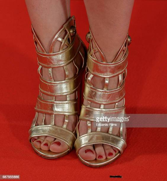 Actress Andrea Trepat shoes detail attends the 'El Jardin del Miguel Angel' party photocall at Miguel Angel hotel on May 24 2017 in Madrid Spain