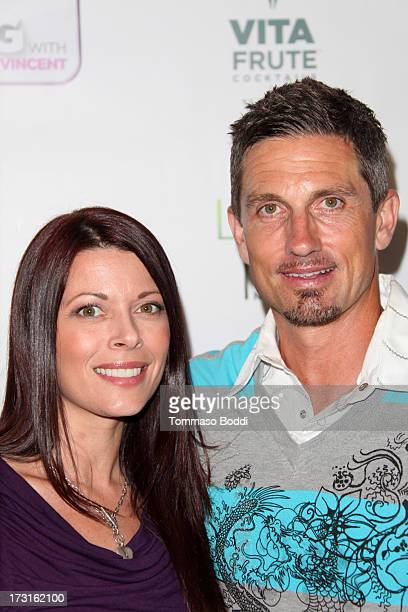 Actress Angel Boris and TV personality Marco Reed attend the 'Live Big With Ali Vincent' season 3 launch party held at Sofitel Hotel on July 8 2013...