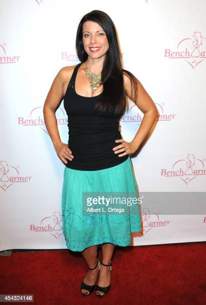 Actress Angel Boris arrives for the Benchwarmer Back To School Red Carpet Party in conjunction with CEO Brian Wallos' Birthday celebration held at...