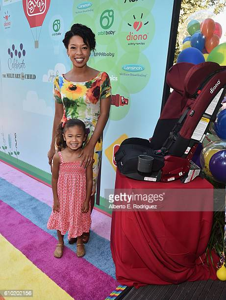 Actress Angel Parker and daughter Naomi Nenninger attend the Step2 Favoredby Present The 5th Annual Red Carpet Safety Awareness Event at Sony...