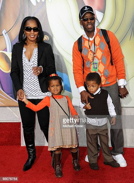 Actress Angela Bassett actor Courtney B Vance daughter Bronwyn Golden Vance and son Slater Josiah Vance attend the premiere of ''The Princess And The...