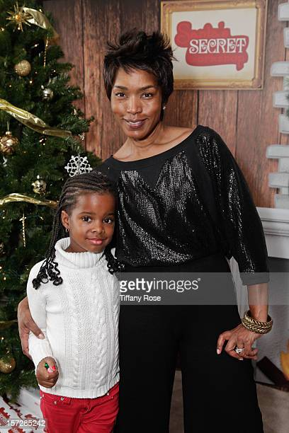 Actress Angela Bassett and daughter Bronwyn Golden Vance attend the 2nd Annual Santa's Secret Workshop Benefiting LA Family Housing at Andaz on...