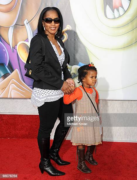 Actress Angela Bassett and daughter Bronwyn Golden Vance attend the Los Angeles Premiere of ''The Princess And The Frog'' at Walt Disney Studios on...
