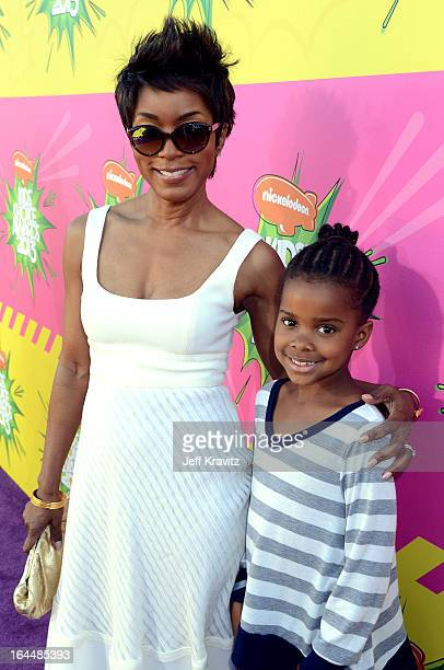 Actress Angela Bassett and daughter Bronwyn Vance arrive at Nickelodeon's 26th Annual Kids' Choice Awards at USC Galen Center on March 23 2013 in Los...