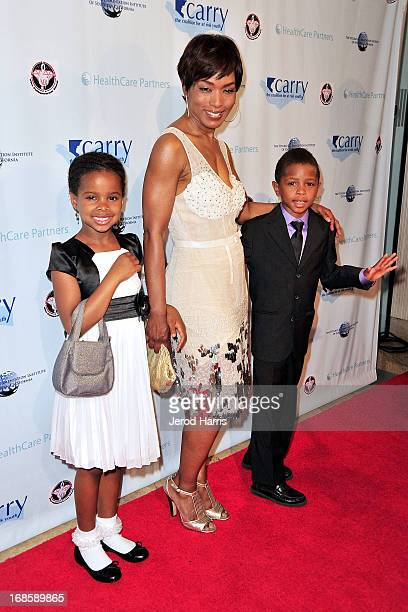 Actress Angela Bassett and her kids Bronwyn Vance and Slater Vance arrive at 'Shall We Dance' Annual Gala for the Coalition for AtRisk Youth at The...