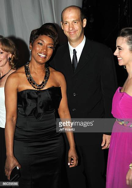 Actress Angela Bassett Anthony Edwards and and Linda Cardellini of ER attend at the 7th Annual TV Land Awards held at Gibson Amphitheatre on April 19...
