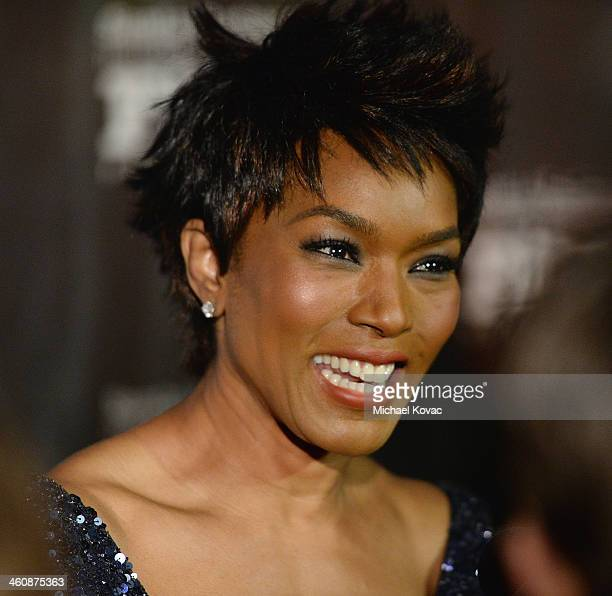 Actress Angela Bassett arrives at Moet Chandon Celebrates the 8th Annual SBIFF Kirk Douglas Award For Excellence In Film Honoring Forest Whitaker at...