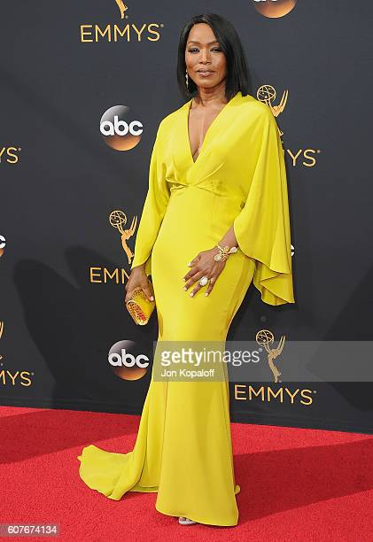 Actress Angela Bassett arrives at the 68th Annual Primetime Emmy Awards at Microsoft Theater on September 18 2016 in Los Angeles California