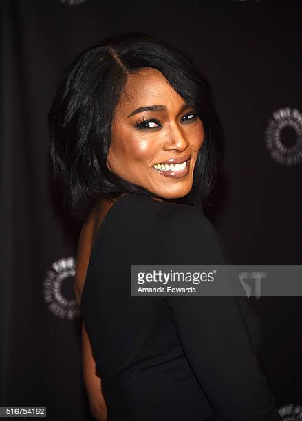 Actress Angela Bassett arrives at The Paley Center For Media's 33rd Annual PaleyFest Los Angeles Closing Night Presentation of 'American Horror Story...