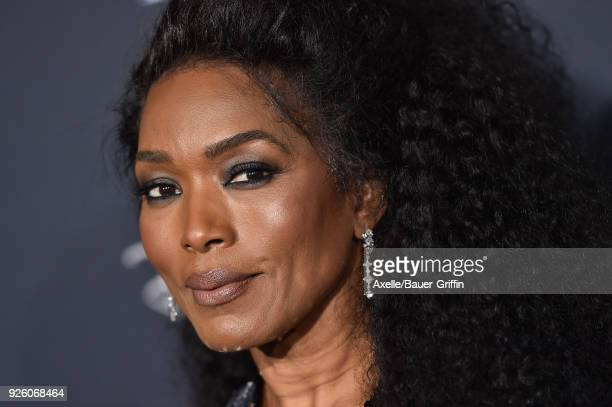 Actress Angela Bassett arrives at the premiere of Disney's 'A Wrinkle In Time' at El Capitan Theatre on February 26 2018 in Los Angeles California