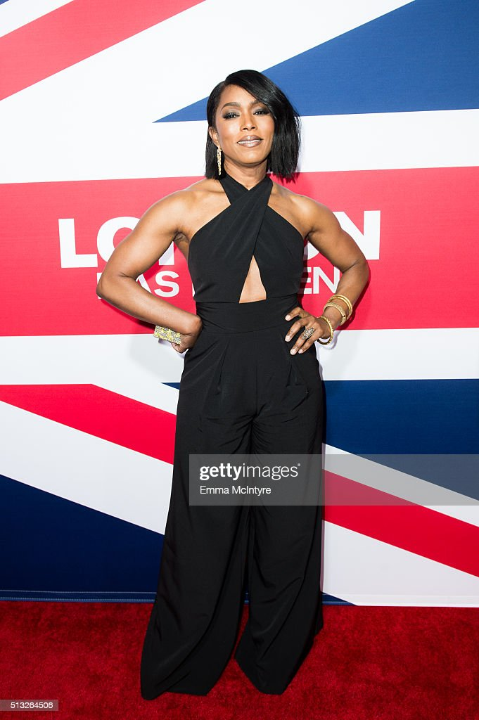 Actress Angela Bassett arrives at the premiere of Focus Features' 'London Has Fallen' at ArcLight Cinemas Cinerama Dome on March 1, 2016 in Hollywood, California.