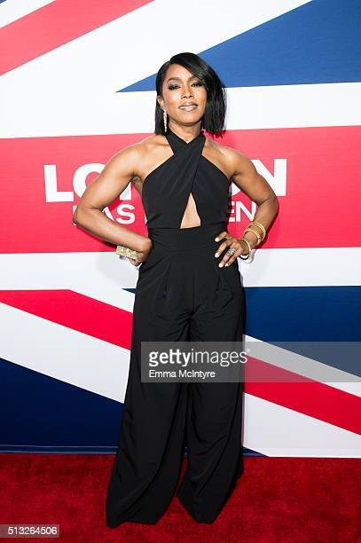 Actress Angela Bassett arrives at the premiere of Focus Features' 'London Has Fallen' at ArcLight Cinemas Cinerama Dome on March 1 2016 in Hollywood...