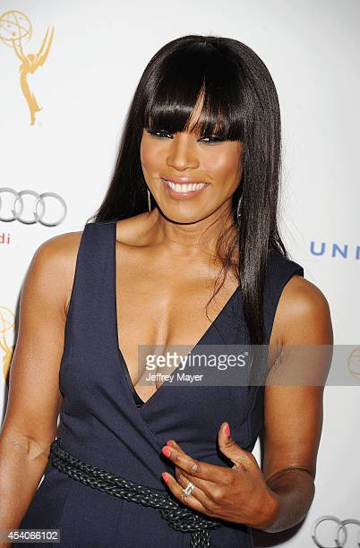 Actress Angela Bassett arrives at the Television Academy's 66th Emmy Awards Performance Nominee Reception at the Pacific Design Center on Saturday...