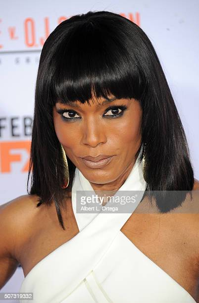 Actress Angela Bassett arrives for Premiere Of FX's American Crime Story The People V OJ Simpson held at Westwood Village Theatre on January 27 2016...