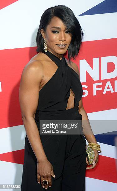 Actress Angela Bassett arrives for the Premiere Of Focus Features' London Has Fallen held at ArcLight Cinemas Cinerama Dome on March 1 2016 in...