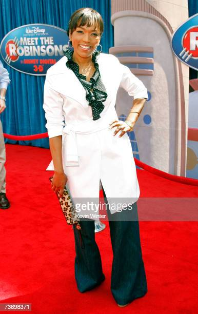 Actress Angela Bassett arrives to the world premiere of Disney's Meet The Robinsons held at the El Capitan Theater on March 25 2007 in Hollywood...