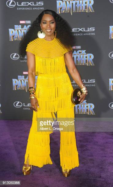 Actress Angela Bassett arrves for the Premiere Of Disney And Marvel's 'Black Panther' held at Dolby Theatre on January 29 2018 in Hollywood California