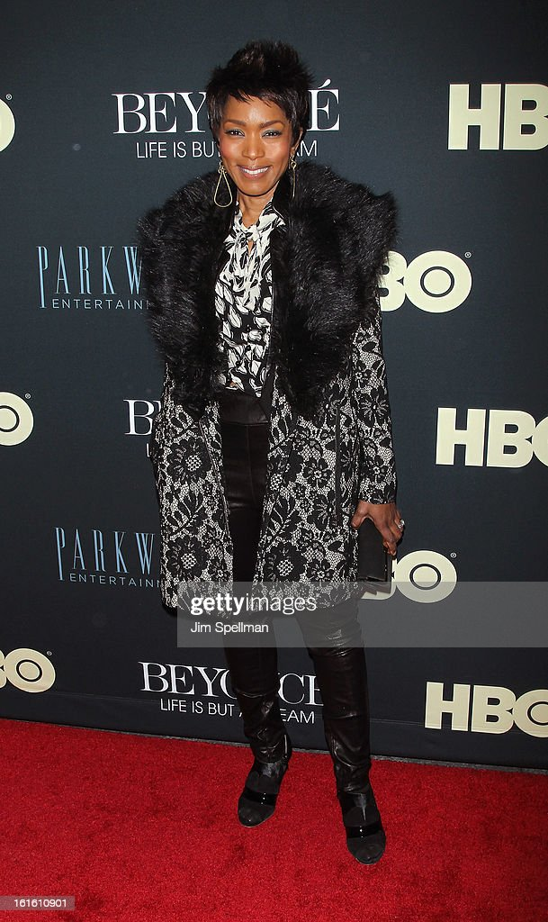 Actress Angela Bassett attends 'Beyonce: Life Is But A Dream' New York Premiere at Ziegfeld Theater on February 12, 2013 in New York City.