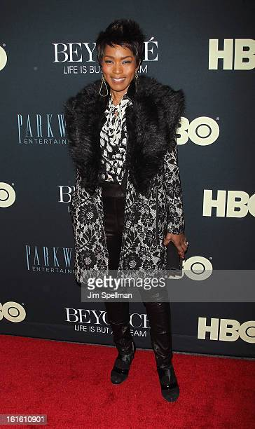 Actress Angela Bassett attends Beyonce Life Is But A Dream New York Premiere at Ziegfeld Theater on February 12 2013 in New York City