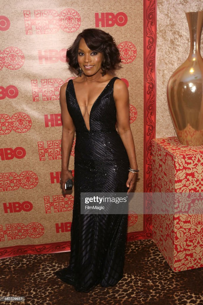 Actress Angela Bassett attends HBO's Official Golden Globe Awards After Party at The Beverly Hilton Hotel on January 12, 2014 in Beverly Hills, California.