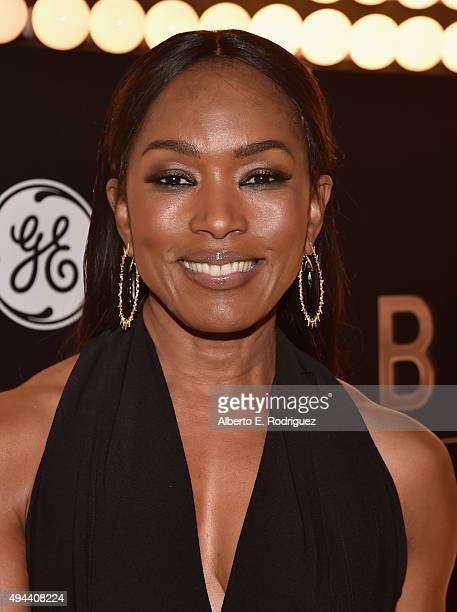 Actress Angela Bassett attends National Geographic Channel's Breakthrough world premiere event at The Pacific Design Center on October 26 2015 in...