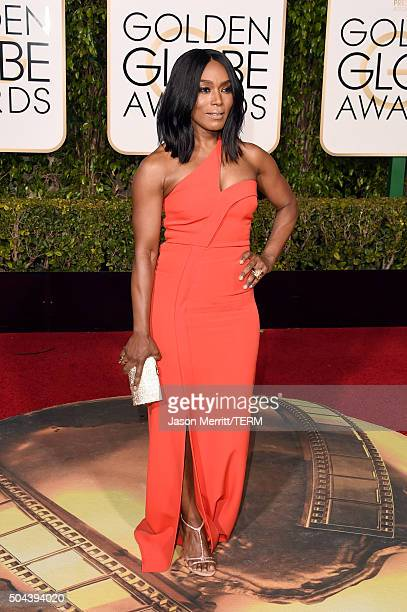 Actress Angela Bassett attends the 73rd Annual Golden Globe Awards held at the Beverly Hilton Hotel on January 10 2016 in Beverly Hills California