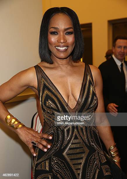 Actress Angela Bassett attends the after party for the 46th NAACP Image Awards presented by TV One at Pasadena Civic Auditorium on February 6 2015 in...