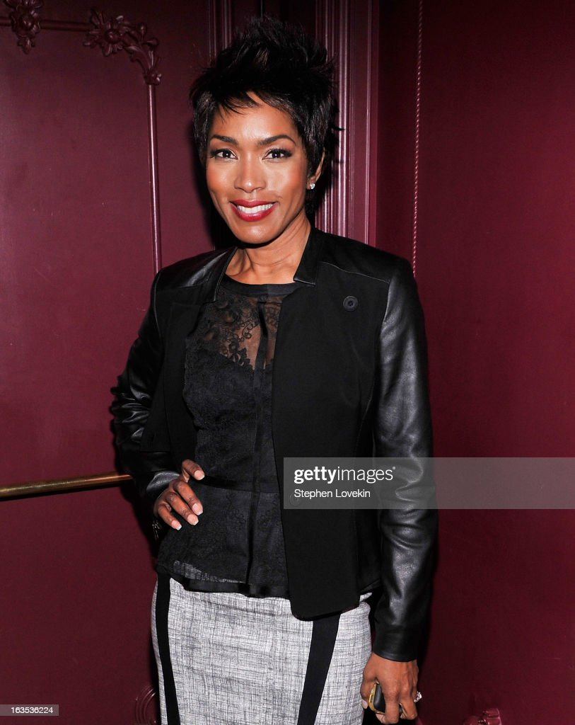 Actress Angela Bassett attends the after party for The Cinema Society with Roger Dubuis and Grey Goose screening of FilmDistrict's 'Olympus Has Fallen' at The Darby on March 11, 2013 in New York City.