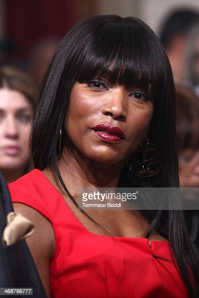 Actress Angela Bassett attends the LA City Council's African American Heritage month celebration held at Los Angeles City Hall on February 11 2014 in...
