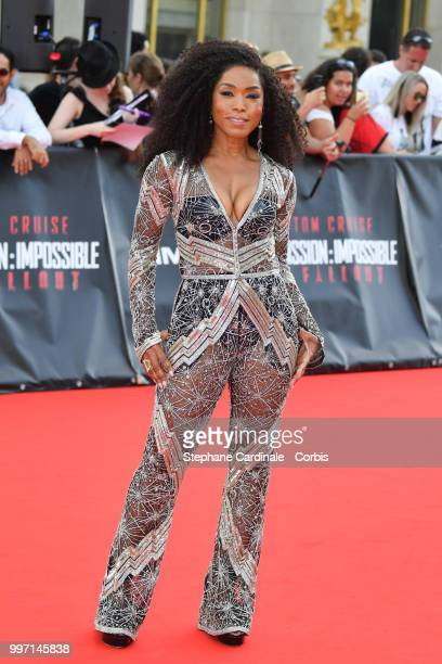 Actress Angela Bassett attends the Mission Impossible Fallout' Global Premiere in Paris on July 12 2018 in Paris France