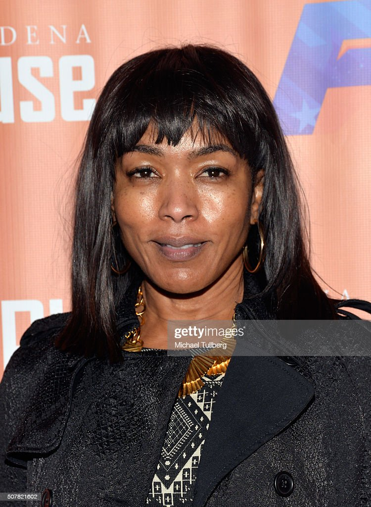 Actress Angela Bassett attends the opening night of the play 'Fly' at Pasadena Playhouse on January 31, 2016 in Pasadena, California.