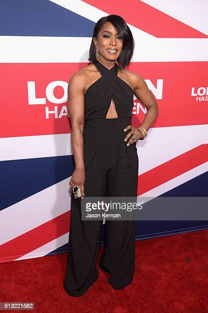 Actress Angela Bassett attends the premiere of Focus Features' 'London Has Fallen' at ArcLight Cinemas Cinerama Dome on March 1 2016 in Hollywood...