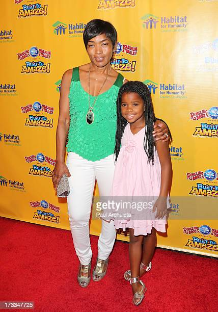 Actress Angela Bassett attends the premiere of Ringling Bros And Barnum Bailey's 'Built To Amaze' at the Staples Center on July 11 2013 in Los...