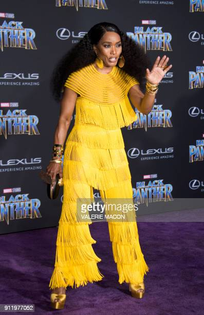 Actress Angela Bassett attends the world premiere of Marvel Studios Black Panther, on January 29 in Hollywood, California. / AFP PHOTO / VALERIE MACON