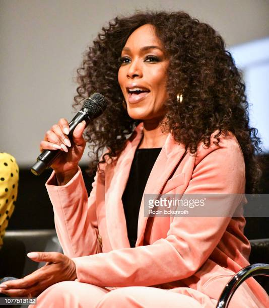 Actress Angela Bassett speaks onstage at MoMA Contenders 2018 Screening and QA of Black Panther at Hammer Museum on December 04 2018 in Los Angeles...