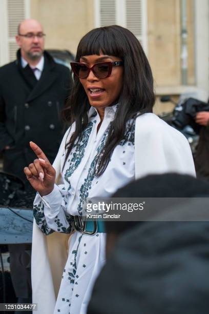 Actress Angela Bassett wears Valentino on March 01 2020 in Paris France