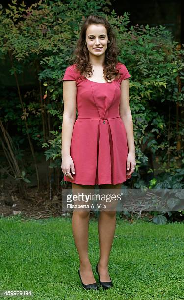 Actress Angela Curri attends 'Francesco' TV miniseries photocall at RAI Viale Mazzini on December 4 2014 in Rome Italy