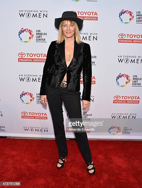 Actress Angela Featherstone arrives at An Evening With Women Benefiting The Los Angeles LGBT Center at the Hollywood Palladium on May 16 2015 in Los...