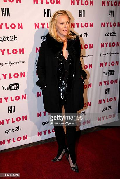 Actress Angela Featherstone arrives at NYLON'S May Young Hollywood Event at Roosevelt Hotel on May 12 2010 in Hollywood California