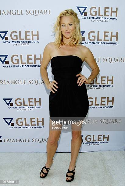 Actress Angela Featherstone arrives to the 8th Annual GLEH Garden Party on October 11 2009 in Los Angeles California