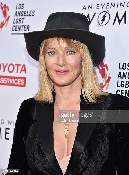 Actress Angela Featherstone attends An Evening with Women benefiting the Los Angeles LGBT Center at the Hollywood Palladium on May 16 2015 in Los...