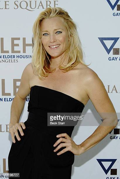 Actress Angela Featherstone of the 'Wedding Singer' and 'Wake' arrives to the 8th Annual GLEH Garden Party on October 11 2009 in Los Angeles...