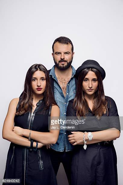 Actress Angela Fontana director Edoardo de Angelis and actress Marianna Fontana from the film Indivisible pose for a portraits at the Toronto...