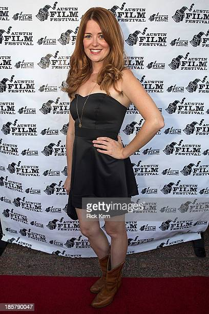 Actress Angela Gollan arrives at the world premiere of 'Coffee Kill Boss' during the Austin Film Festival at The Paramount Theatre on October 24 2013...